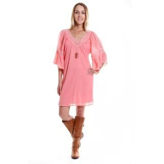 Hadari Women's Contemporary Bell Sleeve Shift Dress