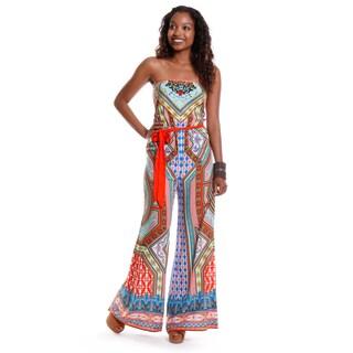 Hadari Women's Tribal Print jumpsuit