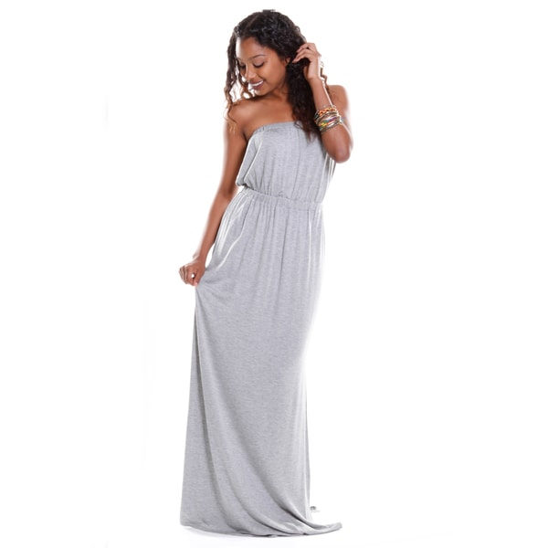 Hadari Women's Strapless Maxi Dress
