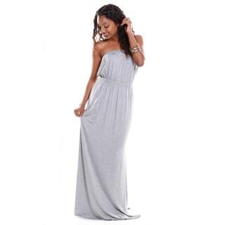 Hadari Women's Contemporary Strapless Maxi Dress