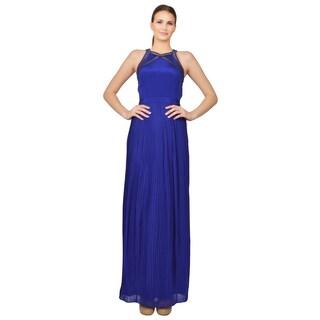 Rebecca Taylor Women's Violet Sleeveless Crew Neck Formal Evening Dress