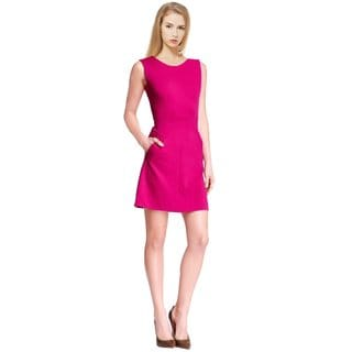 Diane Von Furstenberg Women's Pink Dhalia Carpeena Sleeveless Pocket Cocktail Day Dress