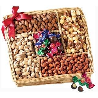 Broadway Basketeers Gourmet Sweet & Savory Nut Gift Basket