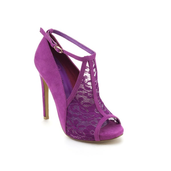 I Heart Collection Women's Skyla-06 Cut-out Stiletto Heels