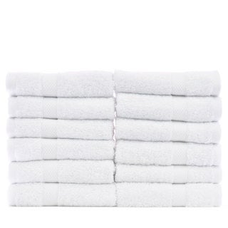 Luxury Hotel and Spa 100-percent Genuine Turkish Cotton Washcloths - Bamboo (Set of 12)