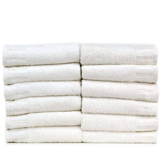 Luxury Hotel and Spa 100-percent Genuine Turkish Cotton Washcloths - Piano Key (Set of 12)