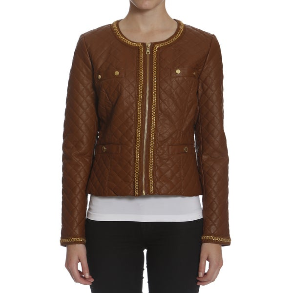 Women's Quilted Metal Chain Jacket