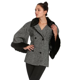Women's Tweed Bell Sleeve Jacket