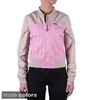 Women's Color Block Baseball Jacket