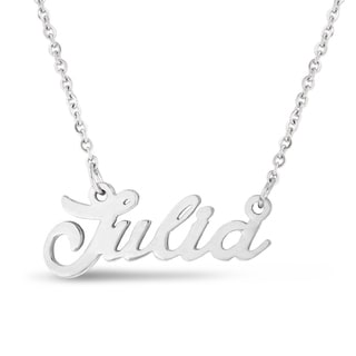 Silver Overlay 'Julia' Nameplate Necklace