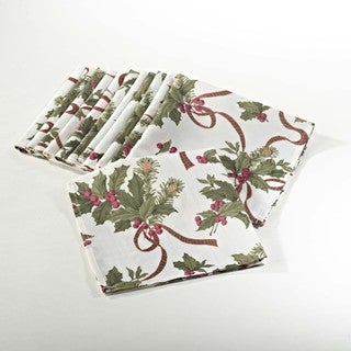 Holly Design Napkin (Set of 12)
