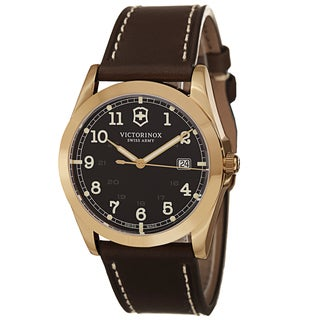 Swiss Army Men's V241645 'Infantry' Brown Dial Brown Leather Strap Swiss Quartz Watch