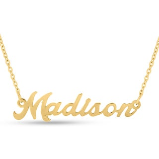 18k Goldplated 'Madison' Nameplate Necklace
