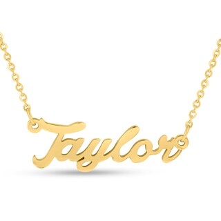 18k Goldplated 'Taylor' Nameplate Necklace