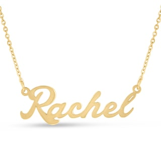 18k Goldplated 'Rachel' Nameplate Necklace
