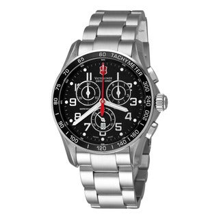 Swiss Army Men's V241443 'Chrono Classic' Black Dial Stainless Steel Swiss Quartz Watch