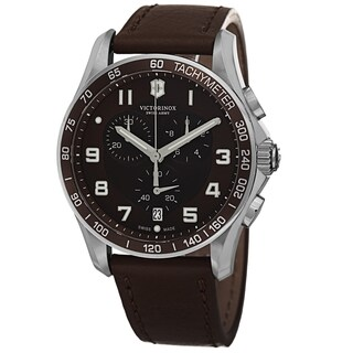 Swiss Army Men's V241653 'Chrono Classic' Brown Dial Brown Leather Strap Chronograph Quartz Watch