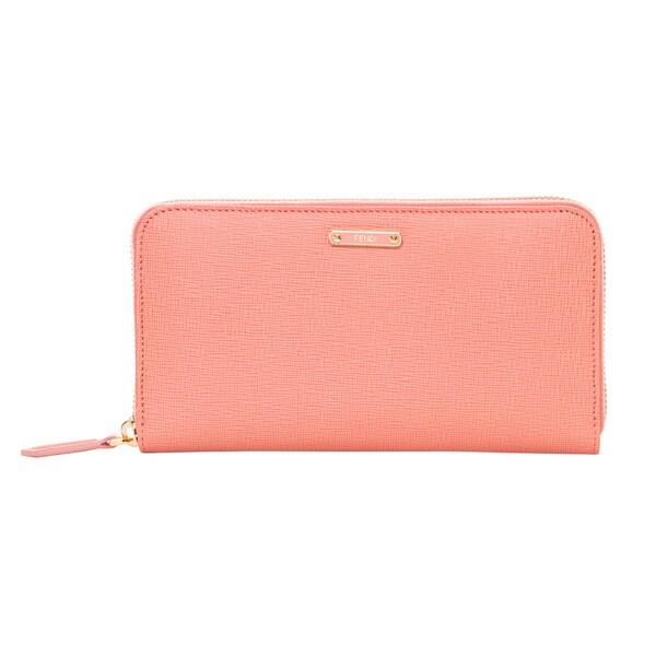 Fendi Crayons Pink Leather Zip-around Wallet
