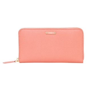 Fendi Crayons Pink Leather Zip-around Wallet
