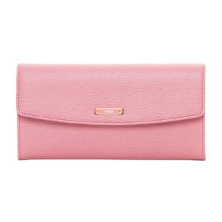 Fendi Crayons Pink Leather Continental Flap Wallet