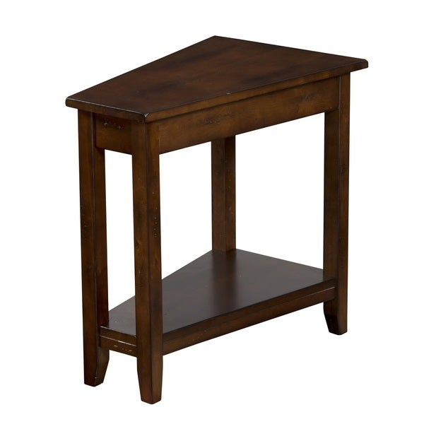 Santa fe angled chair side table 17245522 overstock for End tables for sale near me