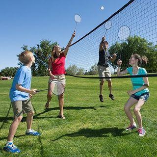 Premium Badminton Volleyball Combo