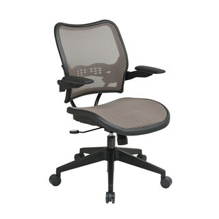 SPACE 13 Series Latte Air Grid Seat and Back, Ergonomic Adjustability, Padded Cantilever Arms, Nylon Base