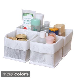 Mesh 3-piece Bathroom Storage Tote Set