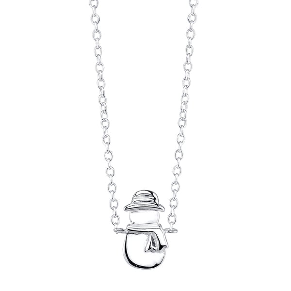 Sterling Silver Snowman Mini Necklace