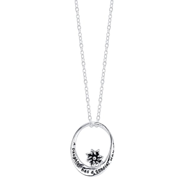 Inspirational Sterling Silver 'A Daughter Has a Special Way of Adding Joy to Everyday' Pendant