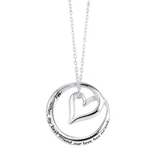 Inspirational Sterling Silver 'My Mother, My Best Friend, Our Love Has No End' Pendant