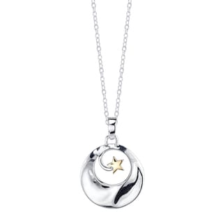 Inspirational Two-tone Sterling Silver 'If You Can Imagine It You Can Achieve It' Pendant