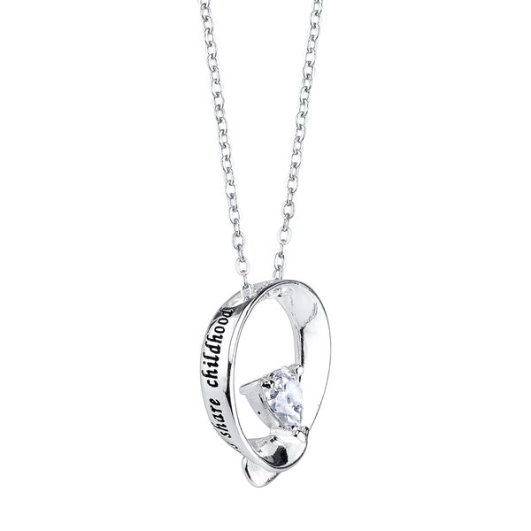 Inspirational and Cubic Zirconia 'Sisters Share Childhood Memories and Grown Up Dreams' Pendant