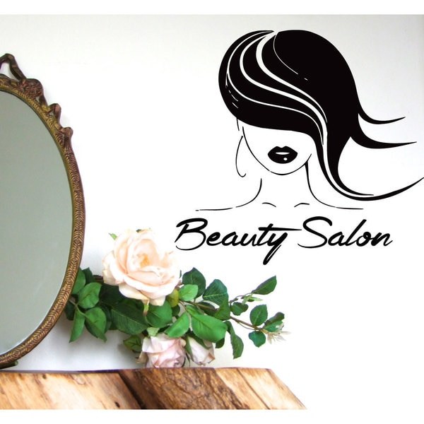 Hair Beauty Salon Sticker Vinyl Wall Art