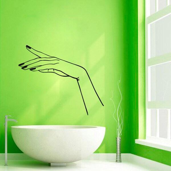 Manicure Nail Beauty Salon Decor Sticker Vinyl Wall Art