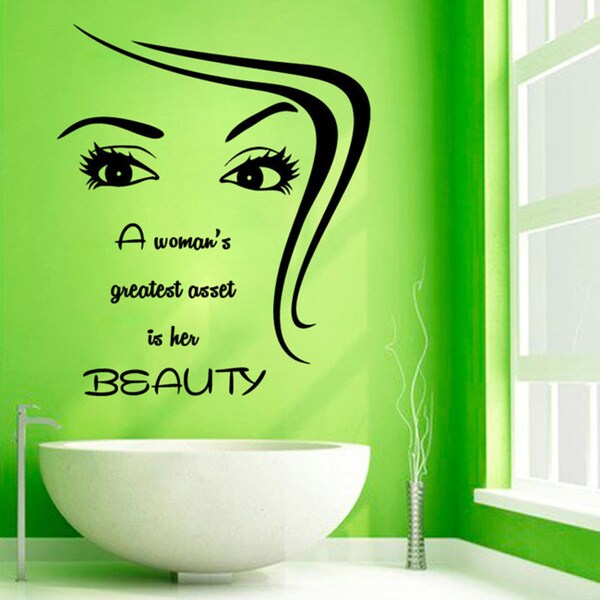 Woman Eyes Beauty Quote Sticker Vinyl Wall Art 15318052