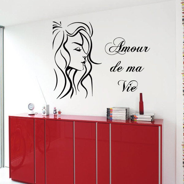 Amour De Ma Vie Love Of My Life Sticker Vinyl Wall Art