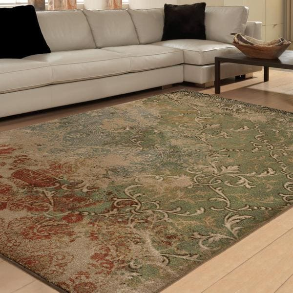 "Vivacious Collection Goddess Multi Area Rug (5'3 ""x 7'6"")"