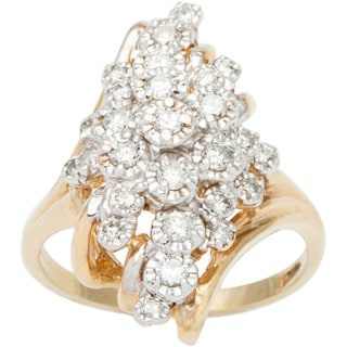 14k Yellow Gold 1/2ct TDW Diamond Cluster Estate Ring (H-I, SI3)