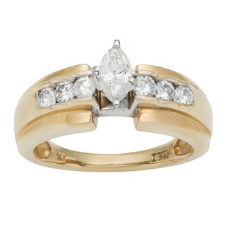 14k Yellow Gold 3/4ct TDW Diamond Estate Engagement Ring (H-I, SI1-SI2)
