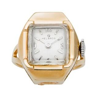 14k Yellow Gold Estate Watch Ring (Size 7.5)