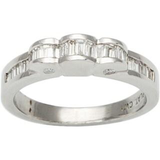 Platinum 1/2ct TDW Baguette-cut Diamond Estate Ring (G-H, VS1-VS2)