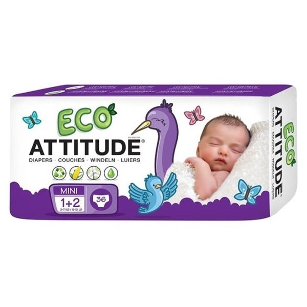 ATTITUDE Eco-Friendly Diapers Size 1-2 36 count