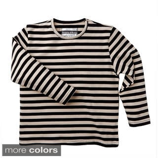 Roberta Di Roma Little Girls Cotton Knit Jersey Striped T-shirt