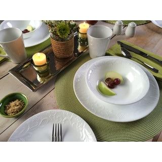 Corelle Embossed Bella Faenza Dinnerware 16-piece Set