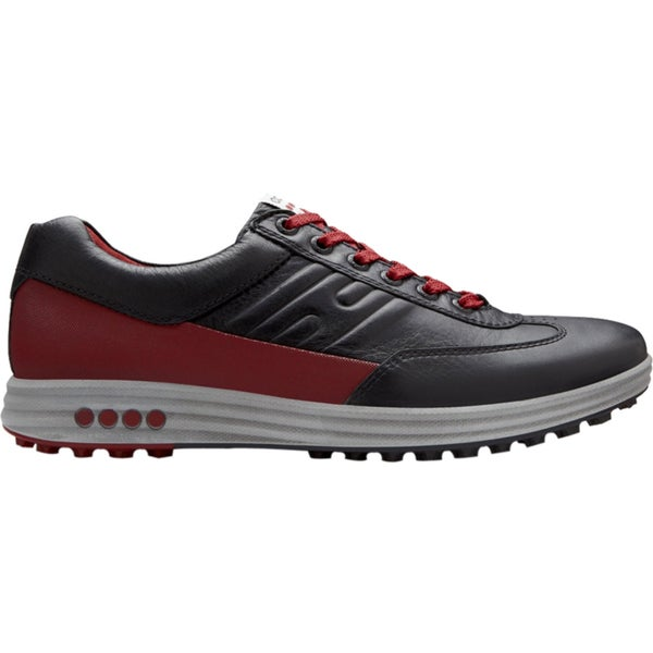 ECCO Men's Street EVO One Spikeless Black/ Grey/ Red Golf Shoes