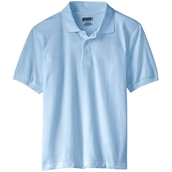 Genuine School Uniform Children's Light Blue Unisex Short Sleeve Pique Polo Shirt