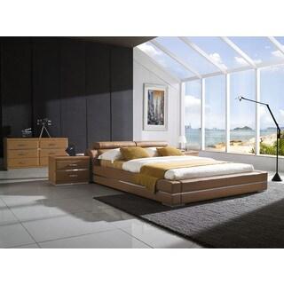 Firenze Modern Saddle Brown Platform Bedroom Set (Set C)