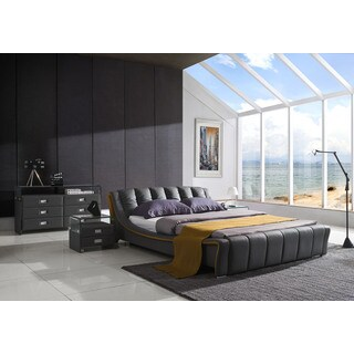 Verona Modern Platform Bedroom Set A Graphite Gray