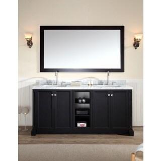 Westwood 72-inch Double Sink Vanity Set in Black